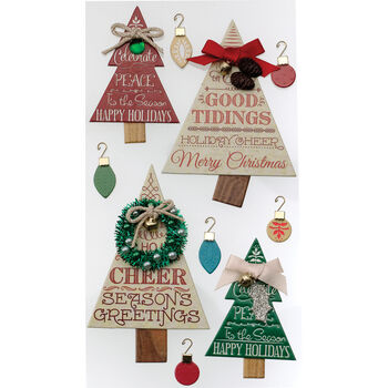 Jolee's Boutique Dimensional Stickers Holiday Word Trees