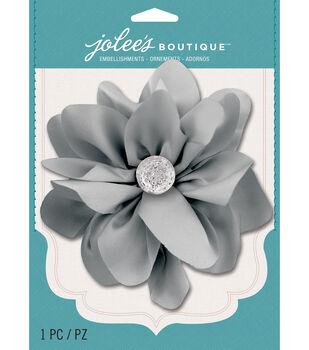 Jolee's Boutique - Gray Satin Gem Large Flower