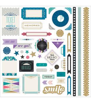 """Aurora Cardstock Stickers 12""""X12""""-Element"""
