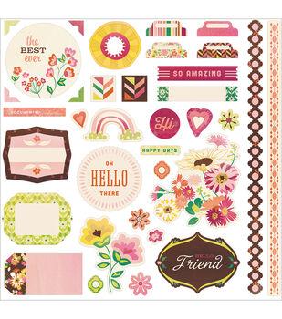 "Vivienne Cardstock Stickers 12""X12""-Element"
