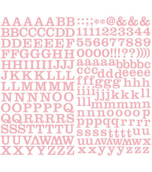 Making Memories Shimmer Alpha Stickers-School House/Pink