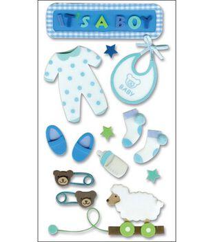 Jolee's Layered Foam Stickers-Baby Boy