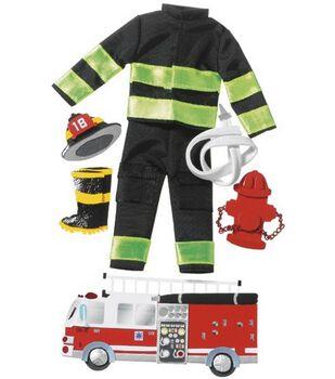 Jolee's Boutique Le Grande Dimensional Sticker-Firefighter