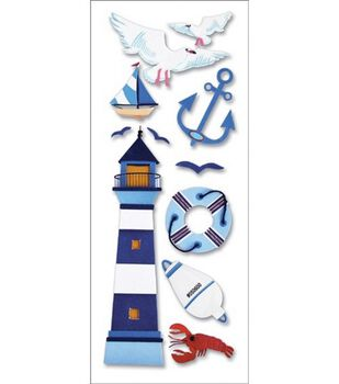 A Touch Of Jolee's A Day At The Beach Dimensional Stickers-Lighthouse