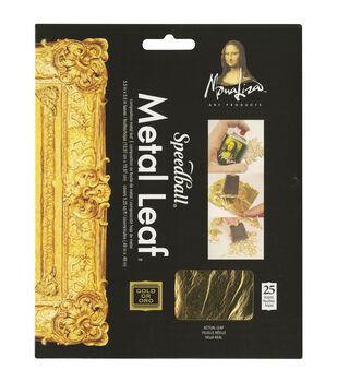Gold Leafing Sheets-25/Pkg Gold