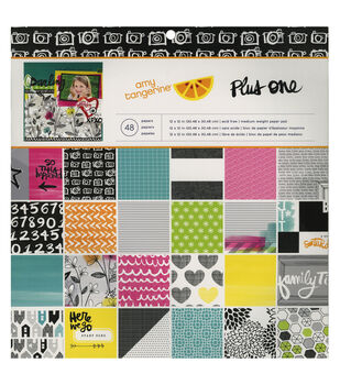 American Crafts Amy Tangerine Plus One Paper Pad 12''x12''