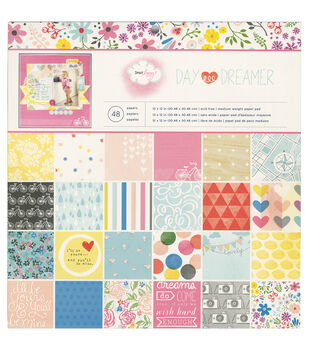 "Dear Lizzy Daydreamer paper Pad 12""X12"" 48/Sheets-Single-Sided"