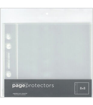 American Crafts 8''x8'' Page Protectors-10PK/Top Loading