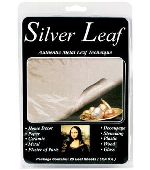 Silver Leafing Sheets-25/Pkg Silver