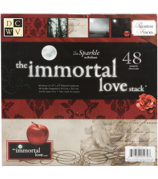 Die Cuts With A View Premium Cardstock Stack Immortal Love