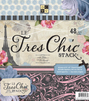 Die Cuts With A View Le Tres Chic Premium Cardstock Printed