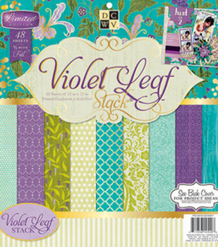 Die Cuts With A View Violet Leaf Stack 12''x12''