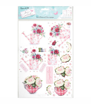 Papermania Lucy Cromwell Herb Garden Glitter Accents Decoupage Sheets