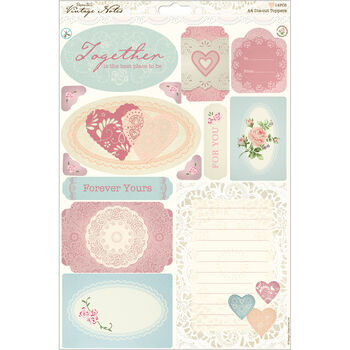 Docrafts Papermania Vintage Notes A4 Die-cut Toppers Icons