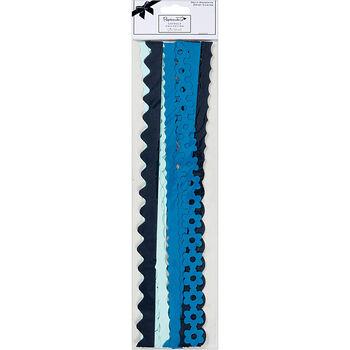 Papermania Burleigh Blue Daisy Chains Self-Adhesive Borders 12''
