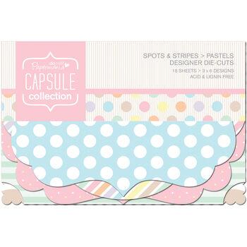 Docrafts Papermania Capsule Designer Die-Cuts Spots & Stripes Pastels