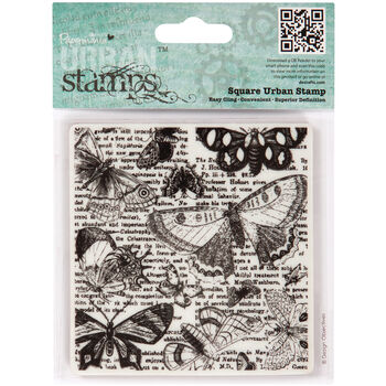 Docrafts Papermania Portobello Road Urban Stamps Lepidopterology