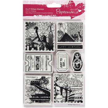 Docrafts Papermania Portobello Road Urban Stamps Bookprint