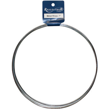 Silver Creek Zinc Metal Rings 7''