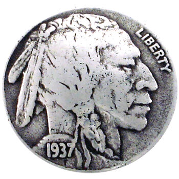 Silver Creek Concho Antique Silver Indian Nickel