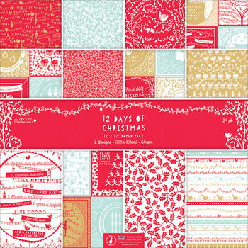Papermania 12 Days Of Christmas Paper Pack 12''x12''