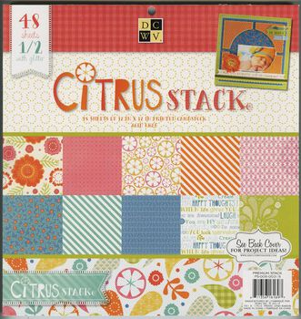 Die Cuts With A View Premium Paper Stack Citrus