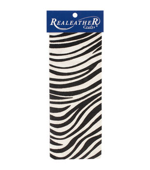 Realeather Crafts Trim Piece - Zebra