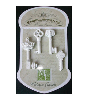 "Resin Embellishments 4/Pkg-The Key To My Heart 1.875""X1.875"""