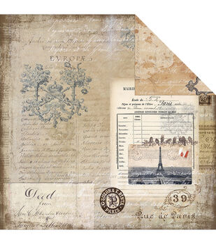 Melissa Frances Glamour  & Grunge The Old World Double-Sided Cardstock