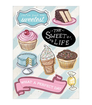 "The Sweet Life Chipboard Accents 5""X7""-"