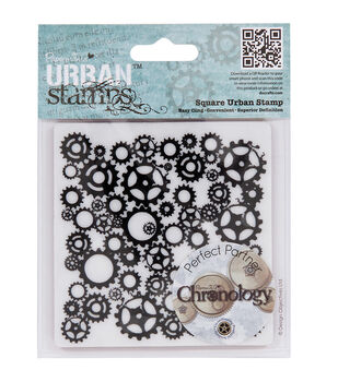 """Papermania Cling Chronology Stamp 4""""X4""""-Cogs"""