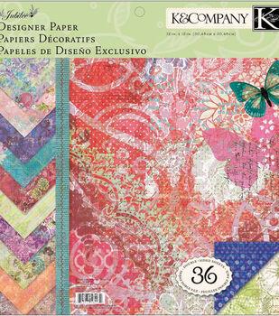 K &Company Jubilee Designer Paper Pad 12''x12''
