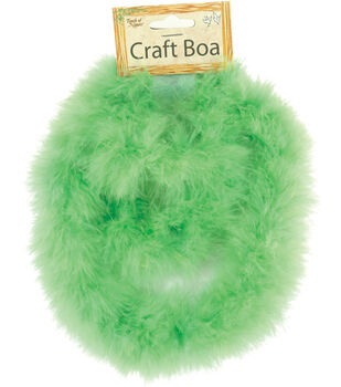"""Midwest Design Marabou Feather Boa 36""""-Hot Lime"""
