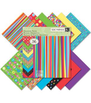 K &Company Happy Birthday To U Designer Paper Pad 12''x12''