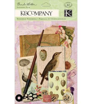 K & Company Ephemera Embellishments-40PK/Flora & Fauna