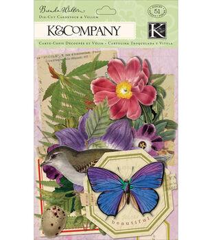 K & Company Cardstock & Vellum Die-Cuts Flora & Fauna