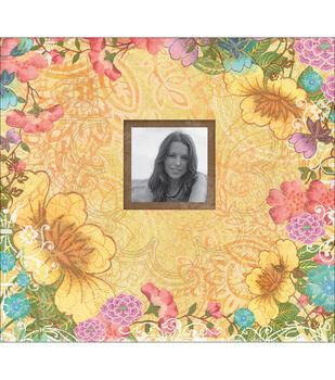 """K&Company Abrianna Postbound Album 12""""X12""""-Floral"""