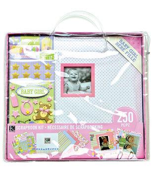 K&Company Baby Girl Scrapbooking Kit