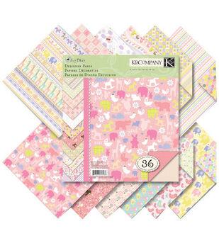 K & Company 8.5''x8.5'' Itsy Bitsy Paper Pad-Baby Girl
