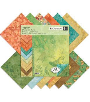 K &Company Nature Designer Paper Pad 12''x12''