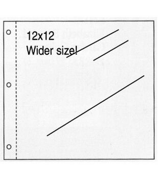 K&Company Postbound Scrapbook Page Protectors 12''x12''-Clear 10/PK
