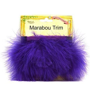 Marabou Feather Trim Tape-Purple