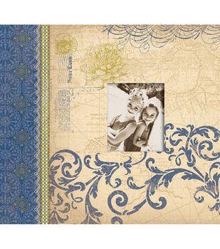 K & Company Postbound Scrapbook Blue Awning