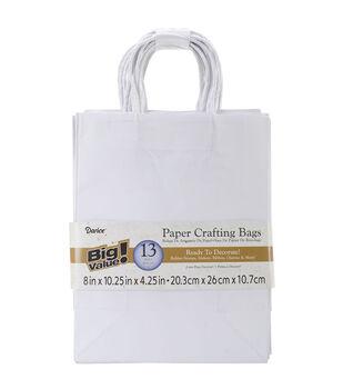 "Paper Bags 4.25""X8""X10.25"" 13/Pkg-White"