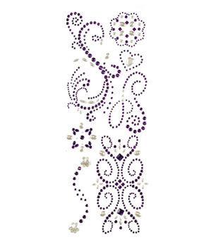 """Handmade Swirl Adhesive Gems 4.5""""X12"""" Sheet"""
