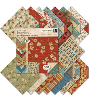 K &Company Blossom wood Double-Sided Designer Paper Pad 12''x12''