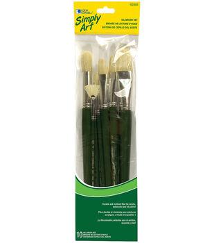 Simply Art Bristle Brush Set Short Handle-12 Pieces