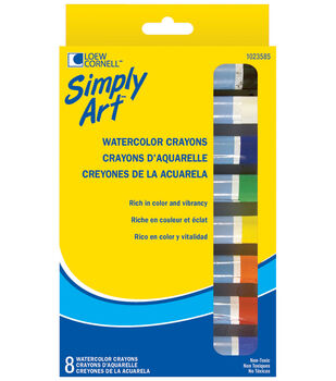 Simply Art Fine Watercolor Crayons-8/Pk