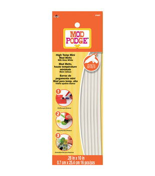 "Mod Podge High Temp Mod Melts .28""X10"" 16/Pkg-Milk Glass White"