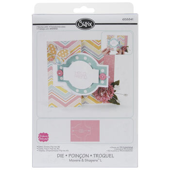 Sizzix Movers & Shapers Large Base Die Card, Ornate 2 Flip-Its